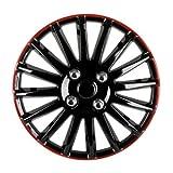 XFC-chelun, 14' Auto Copricerchi Hub Tappi di plastica Coperchi Universale Nero Rosso