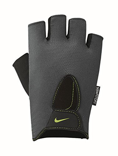 Nike Herren 9092/7 Mens Fundamental Training Gloves Trainingshandschuhe, Dark Grey/Black/Volt, XL (Nike-fundamental)