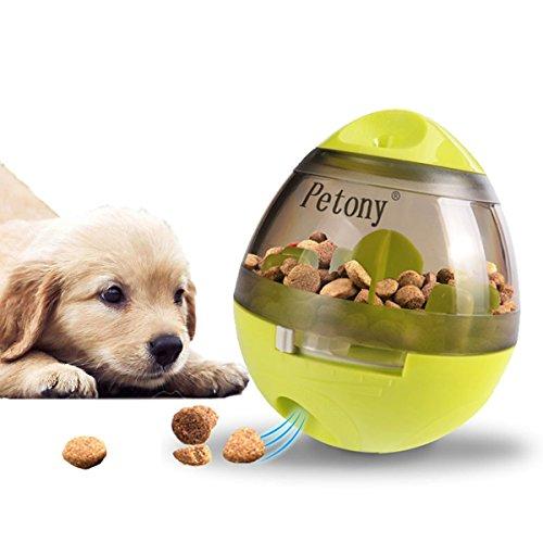 Hundefutter Ball Spielzeug und Hund Treat Ball Food Dispenser Interaktives Spielzeug Langsam Essen IQ Ball mit grünem IQ Puzzle Kauspielzeug