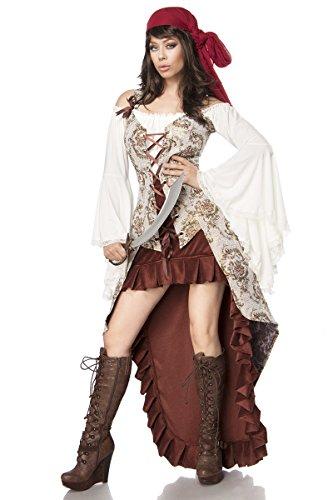 Mask Paradise Luxus Piratenbraut Pirat Piratin Kostüm Damen Karneval Fasching Damenkostüm Braut Piratin