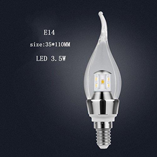 DZW Bulbo del candelabro de E14 LED, base de 3.5W y 4W E14, blanco caliente 2700K bulbos de la vela del LED, 220V, no-dimmable, adaptar una araña con la lámpara de cristal , 3.5w , 2Fuente de alimentación de corriente constante