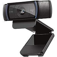 Webcam Logitech C920 HD Pro: appels et enregistrements vidéo en Full HD 1080p avec deux micros stéréo - Noir
