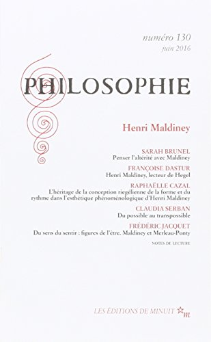 Philosophie, N 130, juin 2016 : Henri Maldiney