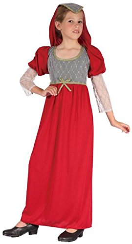 Kostüm Juliet Romeo - P 'tit Clown re98167-Kostüm Kinder Juliette, S 4/6Jahre