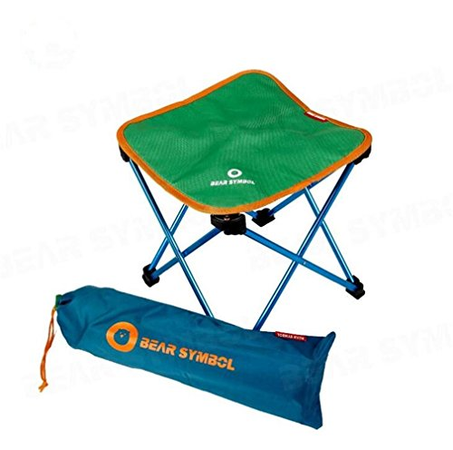 TTYY Chaise Pliante Lune Chaise extérieure Pique-Nique Camping pêche Barbecue, Green