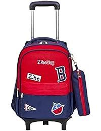 Bolso Trolley para Escuela Primaria Niños 1-6-12 años Bolso Trolley con Ruedas
