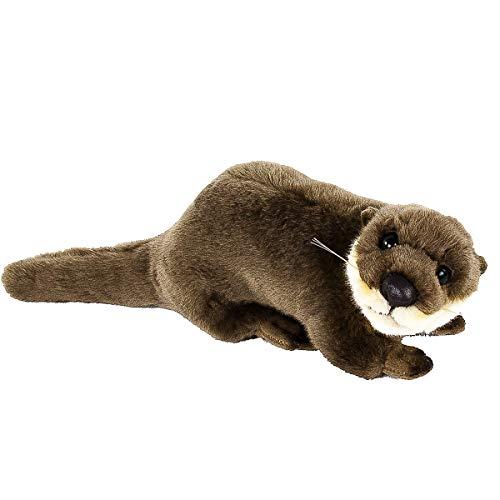 Teddys Rothenburg Kuscheltier Otter liegend braun 26 cm Plüschotter