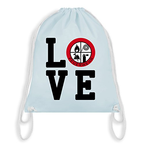 Feuerwehr - LOVE Feuerwehr - Unisize - Pastell Blau - WM110 - Turnbeutel & Gym Bag