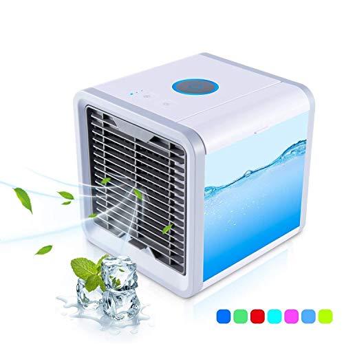 JXJ Tragbare Klimaanlage Ventilator, Kleine Persönliche Klimaanlage, Air Personal Space Kühler Mit Befeuchter Und Luftreiniger USB Wiederaufladbare Mini-Tragbare Klimaanlage -