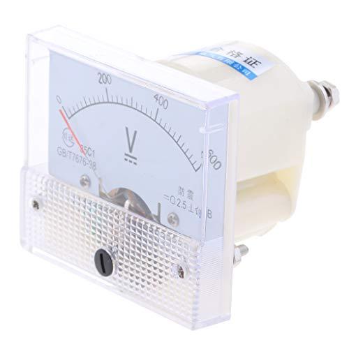B Blesiya Dc Rechteck Amperemeter Stromtester Analog Panel Voltmeter, Messbereich 0-5 V bis 0-600 V - 0-600 V - Dc Analog Voltmeter-panel