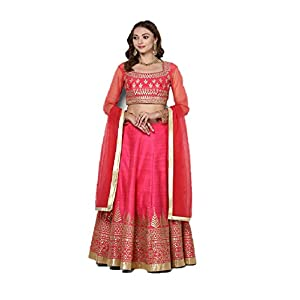 Pushp Paridhan New Collection Stylish Traditional Ethnic Wear Gota Patti Work Hot Pink Lehenga Choli Set For Women