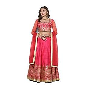 Pushp Paridhan New Collection Stylish Traditional Ethnic Wear Gota Patti Work Hot Pink Lehenga Choli Set For Women