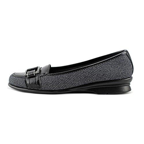 Aerosoles Juneberry Femmes Cuir Chaussure Plate Black-White