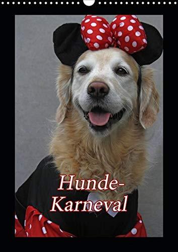 Hunde-Karneval (Wandkalender 2020 DIN A3 hoch): Zwei Hunde feiern Karneval (Monatskalender, 14 Seiten ) (CALVENDO - Comic Hunde Kostüm