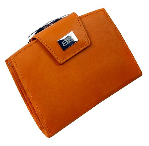 Bernardo Bossi in pelle borsa portafoglio PORTAMONETE Bügel, lila (nero) - 853-019 orange