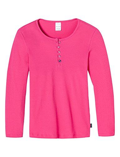Schiesser Mädchen Schlafanzugoberteil Shirt 1/1 Mix & Relax, Gr. 140, Rot (pink 504)