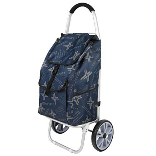 Tragbarer Einkaufswagen, Aluminiumlegierung Einkaufstasche Oxford Tuch Stumm Schalten Geeignet Für Junge Leute/Shopping/Alte Leute