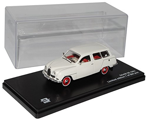 saab-95-kombi-weiss-1960-1963-limitiert-triple-9-1-43-ixo-modell-auto