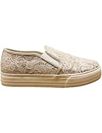 LIU-JO GIRL L3A4 00057 Cipria Oro Sneakers Slip on Scarpe Donna Calzature  Comode 0c4a91f97db