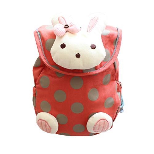 -Lost Gürtel&Geschirr, Roter Hasenrucksack, Kinderrucksack Animal Schule Tasche Rucksack for Kinder Jungen Mädchen ()