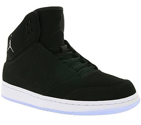 NIKE Air Jordan 1 Flight 5 Premium Hommes Noir Formateurs 554724 028, Size:43