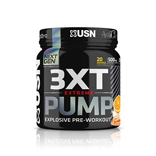 USN 3XT PUMP Extreme Pre Workout Booster, 420g, Geschmack:Orange -