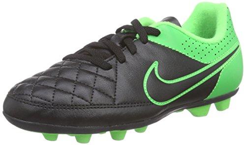 Nike - Tiempo Rio Ii Fg-R, Scarpe Da Calcio infantile Multicolore (Mehrfarbig (Black/Black-Grn Strk-Grn Strk))