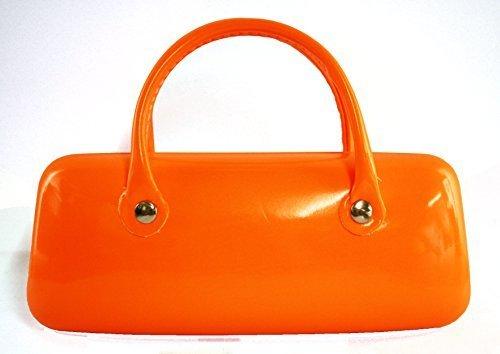 Trendy Orange Fluo Étui à lunettes avec double poignée 15,2 x 6,3 cm/15 x 6 cm environ cadeau idéal