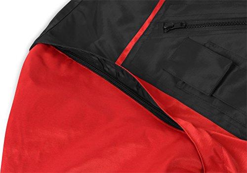 Winterjacke Pilotenjacke 4 in 1 Gr. S-XXXL rot/schwarz