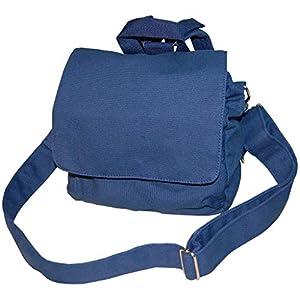 Lieblingsstücke Kindertasche Taschenrohling Canvasrucksack wandelbar zur Tasche in dunkeblau KT10