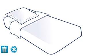 Kit literie jetable housse complet (alèse + taie + drap) pour lit 1 place 90x190cm - Unité(s)