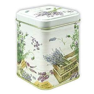 Boîte à thé–113g–Petit carré–Saveur de Provence Lavande Design–9,5cm