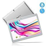 Tablet Android da 10.1 pollici 3G, CPU Quad Core Android 8.1 64 GB (32GB ROM + 32GB SD )2 GB RAM PC IPS HD 1280x800 Sbloccato per Telefonate con Doppio slot per Schede SIM GPS WIFI Bluetooth (Bianco)