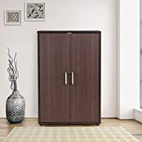 HomeTown Henley Engineered Wood Storage Cabinet in Beech Chocolate Colour
