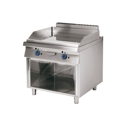 Fry Top Parrilla a gas profesional liso cm 80x 90x 85rs1119