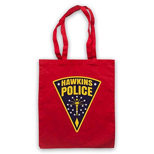Inspiriert durch Stranger Things Hawkins Police Badge Logo Inoffiziell Umhangetaschen Rot