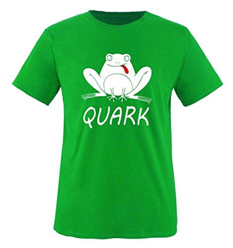 Quark - Frosch - Kinder T-Shirt - Grün/Weiss-Rot Gr. 122-128 -