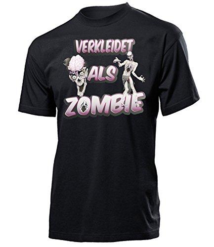 Gruppe Zombie Kostüm - Zombie 5236 Karneval Fasching Kostüm Herren Männer Horror Paar Gruppen Outfit Klamotten Oberteil T-Shirt Faschings Karnevals Motto Party Schwarz XXL