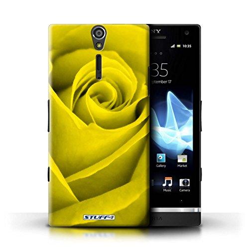 Kobalt® Imprimé Etui / Coque pour Sony Xperia S/LT26i / Bleu conception / Série Rose Jaune