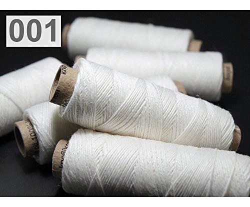 1pc 001 Blanco de Lino 100% Hilo de 50 M