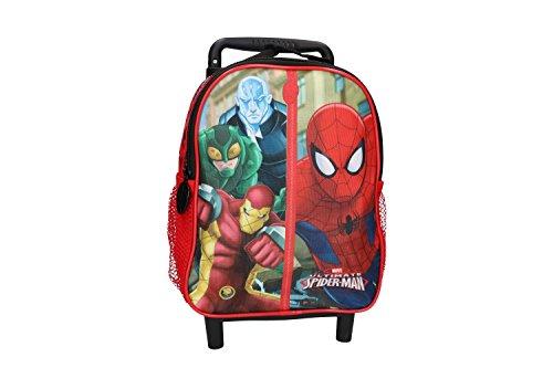 Zaino bambino spiderman rosso borsa scuola tempo libero con trolley vz168