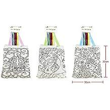 Cisne 2013, S.L. Lote de 3 Bolsas para Colorear con Pinturas de Cera incluida.