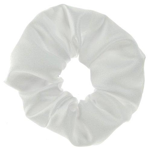 ShowQuest Plain Scrunches - white (ShowQuest Stoffhaargummi, Weiß) (Krawatte-scrunch)