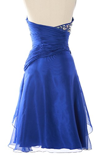 MACloth Women Strapless Short Prom Dress Tiered Cocktail Party Formal Gown Royal Blue