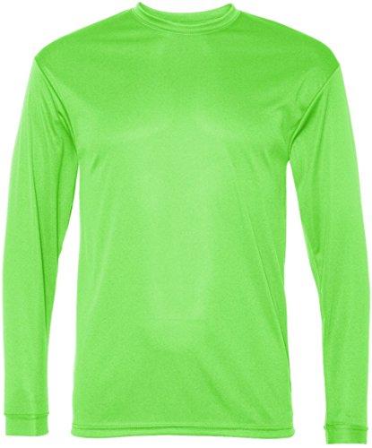 C2 Sport Pour homme 100% Poly Performance T-shirt à manches longues citron vert