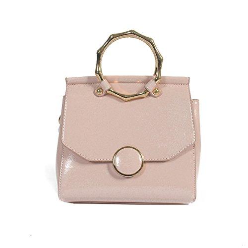 Sacchetto Femminile Versione Coreana Moda Metallo Borsa Modello Di Palma Piccolo Sacchetto Quadrato Borsa Messenger Pink
