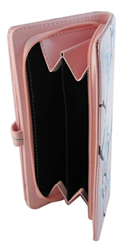 Shagwear portafoglio per giovani donne , Large Purse : Diversi colori e design: uccellini blu / Blu Birds