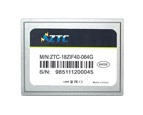 64GB ZTC Zyklon 40-polige ZIF 1,8 Zoll PATA SSD verbessert Solid-State-Laufwerk - ZTC-18ZIF40 - 064G -