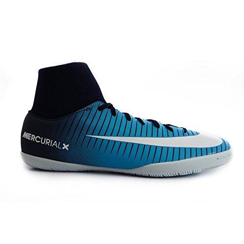 Nike MercurialX Victory VI Innenraum Erwachsene Fußball Stiefel 43–Fußballschuh (Innenraum, Erwachsener, männlich, Blau, Weiß, bedruckt, Kautschuk) (Erwachsener Fußball-ausrüstung)