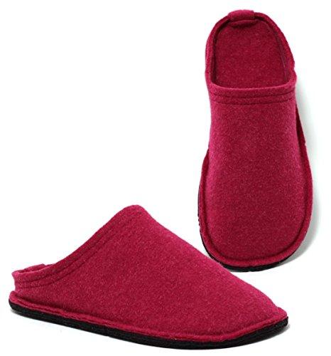 Bild von Zapato Damen Hütten Hausschuhe aus Filz in Beere PINK Gr.37-40 Filzhausschuhe Filzpantoffeln Slipper Pantoffeln Puschen Hüttenschuhe Made IN